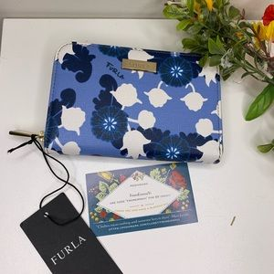 Furla Floral Print Medium Zip Wallet